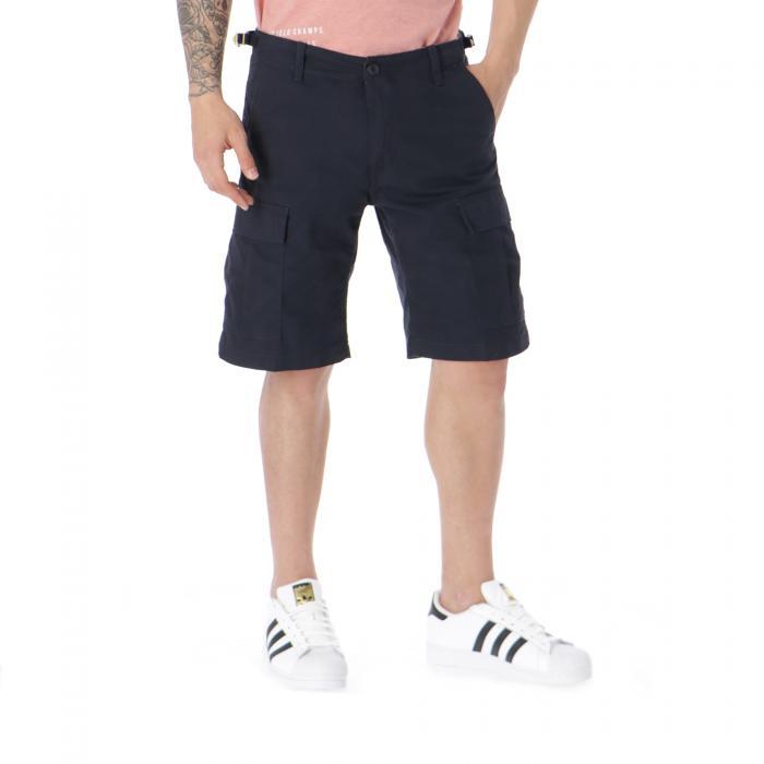 carhartt shorts dark navy rinsed