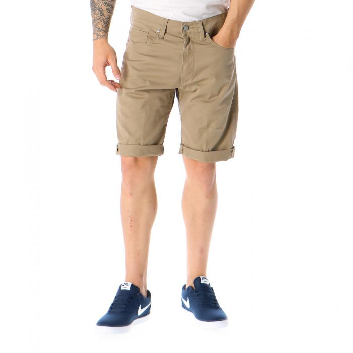 carhartt shorts leather rinsed