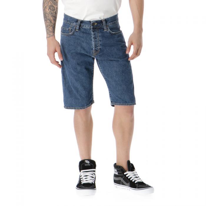 carhartt shorts blue stone washed