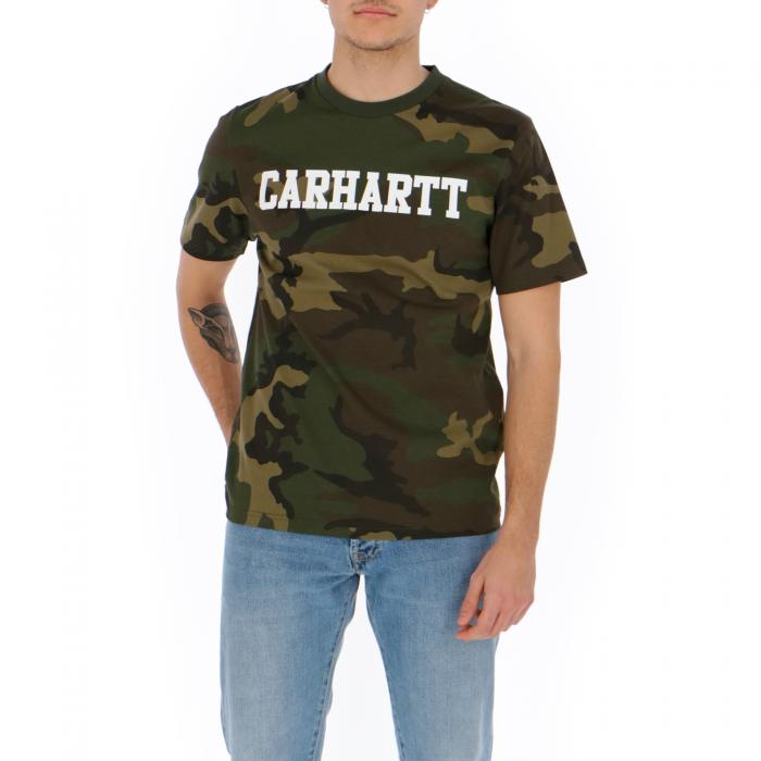 carhartt t-shirt e canotte camo laurel/white