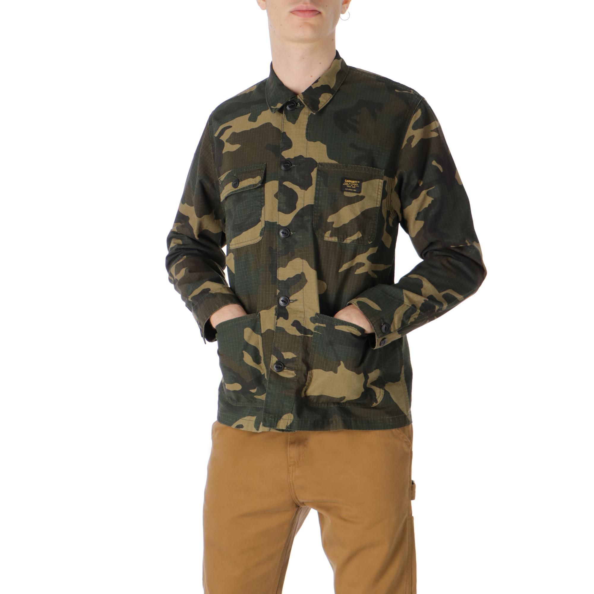Carhartt Michigan Shirt Jac<br/> <br/> Camo laurel