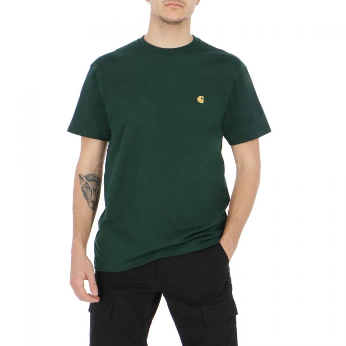 carhartt t-shirt e canotte bottle green/gold