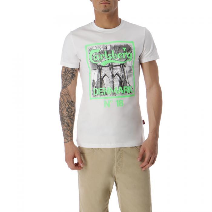 carlsberg t-shirt e canotte white
