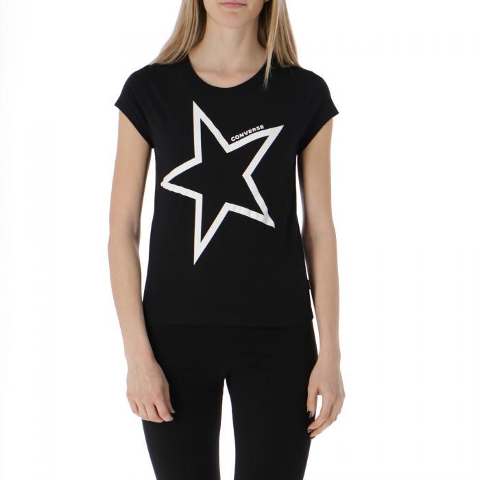 converse t-shirt e canotte black