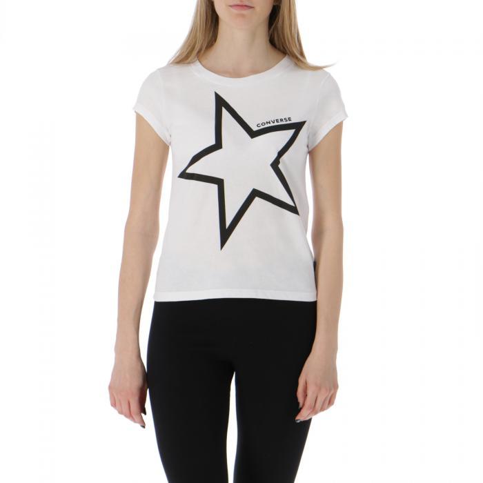 converse t-shirt e canotte white