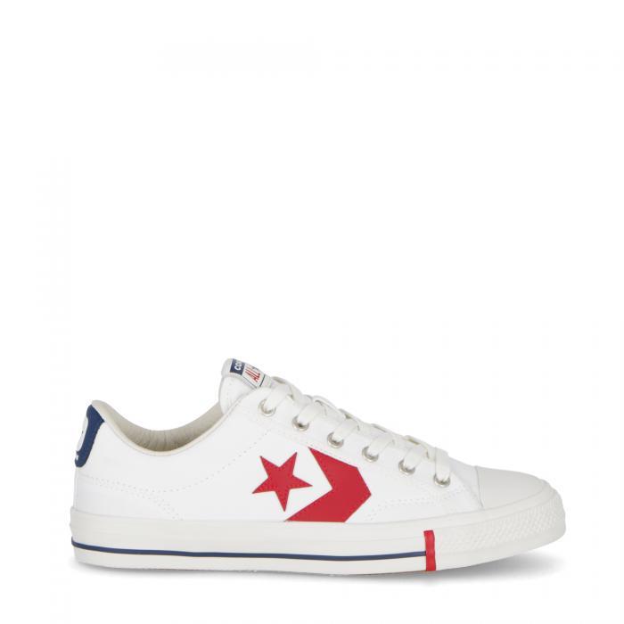 converse scarpe lifestyle white/gym red/optical white