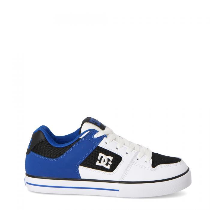 dc scarpe skate white black blue