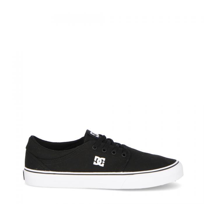 dc scarpe skate black white