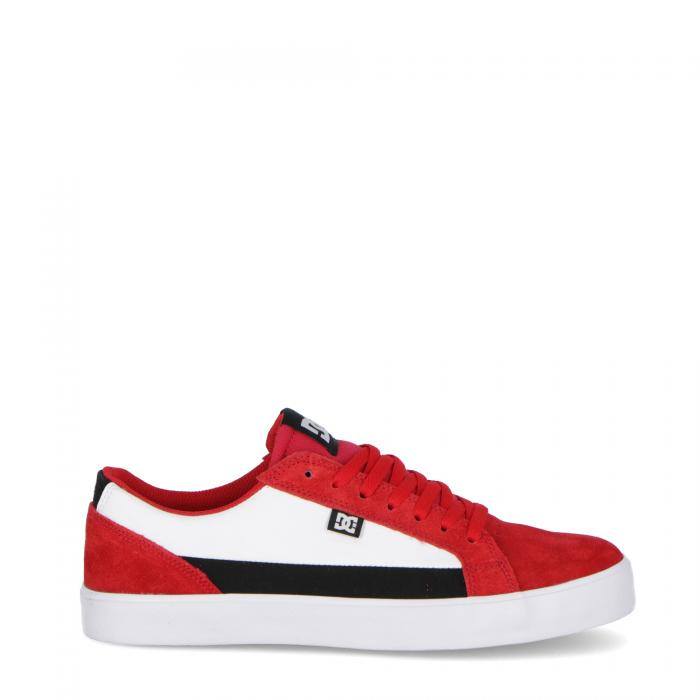 dc scarpe skate red black red