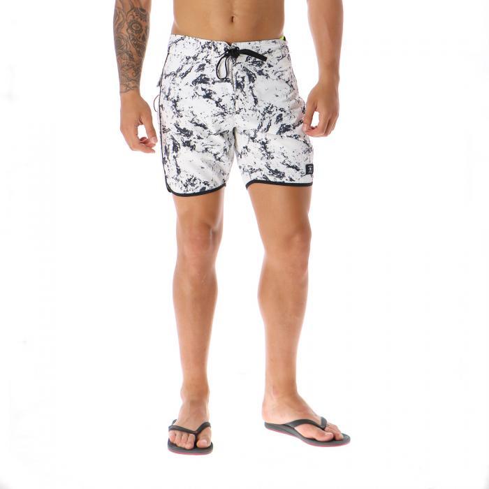 dc beachwear lily white storm print