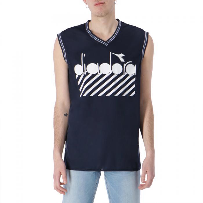 diadora t-shirt e canotte blue plum