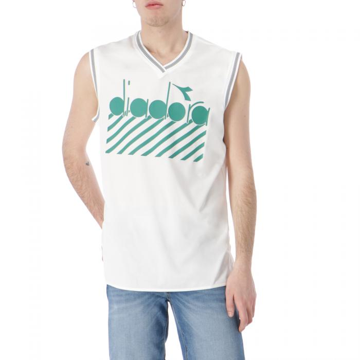 diadora t-shirt e canotte gardenia verdant green