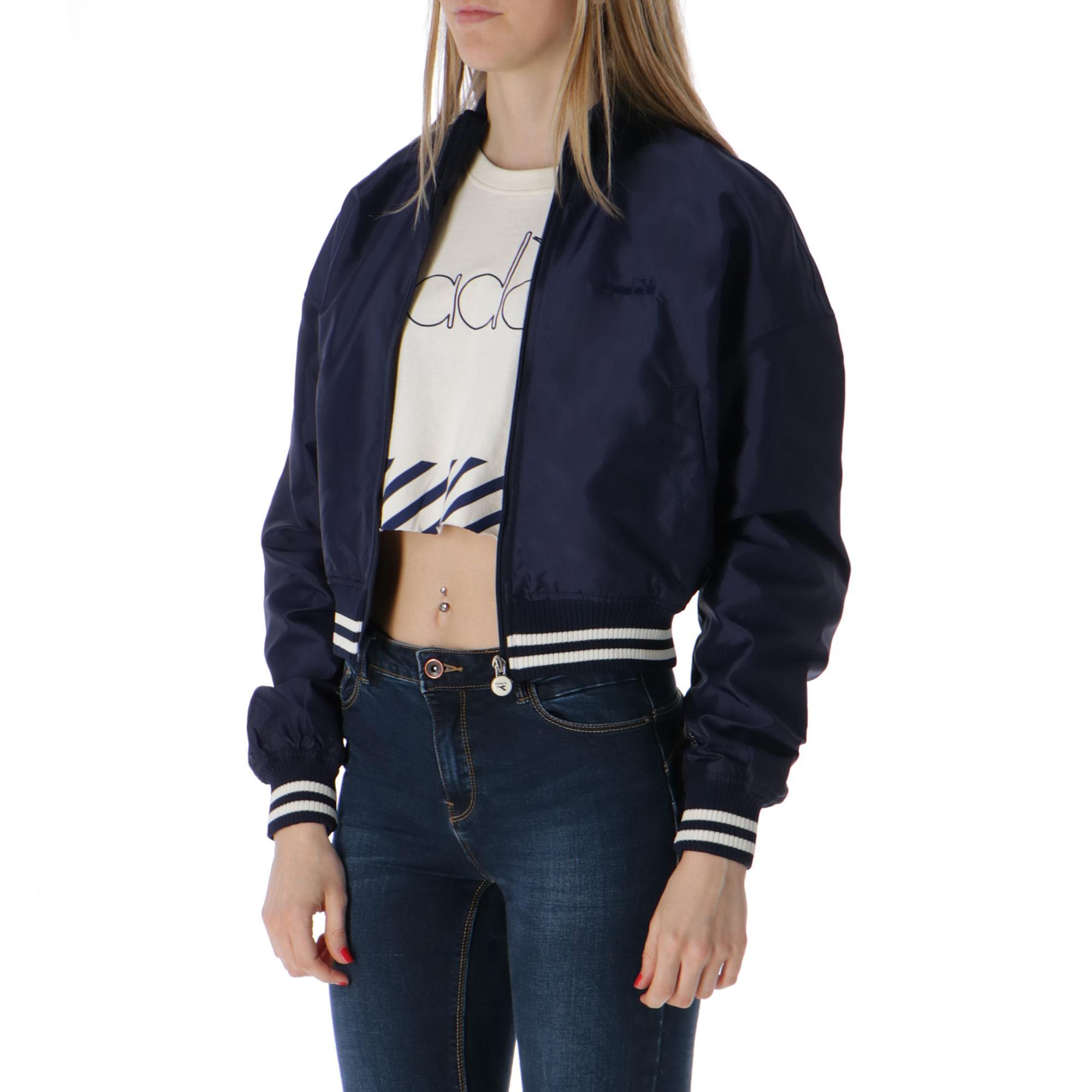 Diadora L. Track Jacket Barra BLUE PLUM