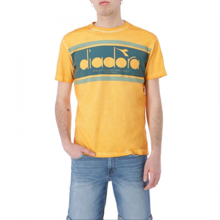 diadora t-shirt e canotte orange mustard