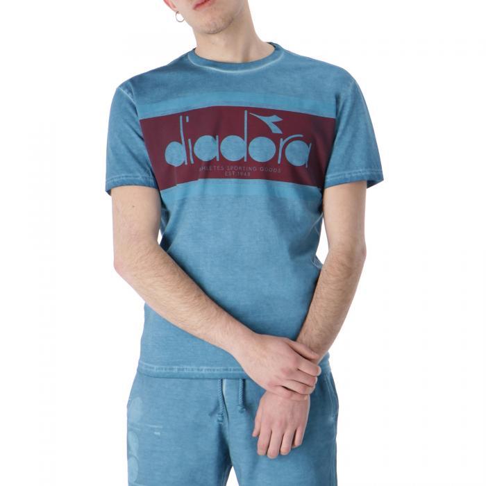 diadora t-shirt e canotte blue pearl arbor