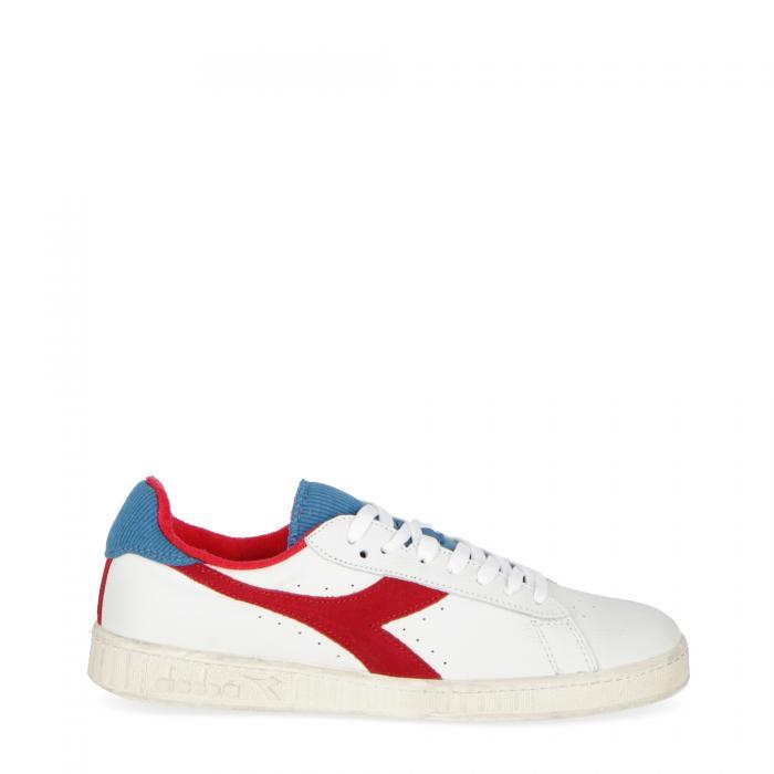 diadora scarpe lifestyle white dark red