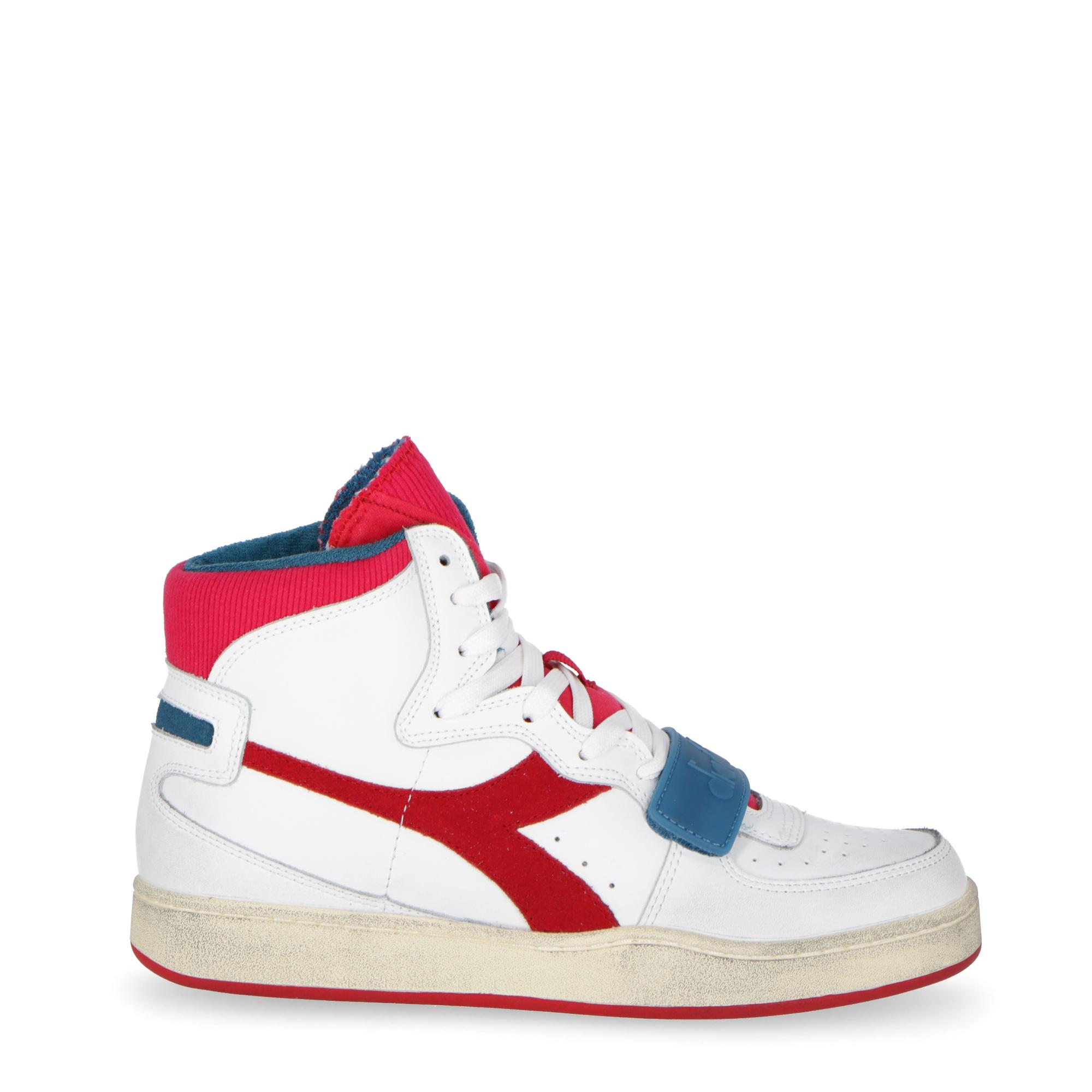 b8ed234b96c6 Diadora Mi Basket Used White Dark Red