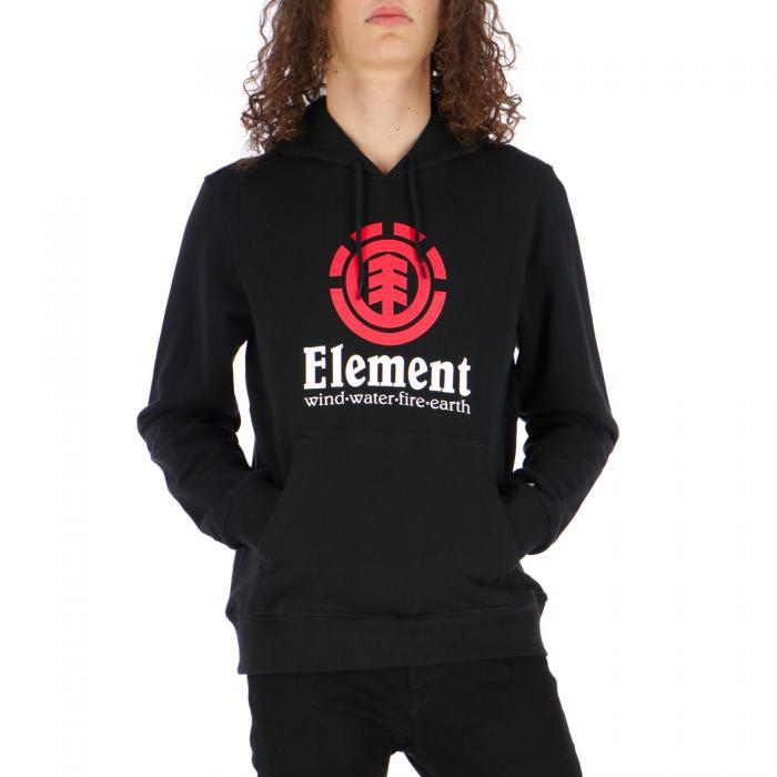 element felpa cappuccio flint black