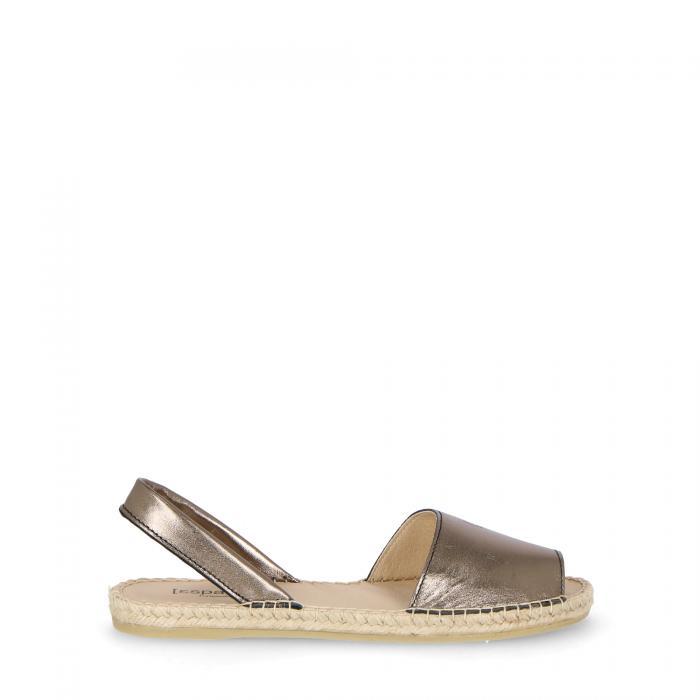 espadrij sandali e ciabatte bronze