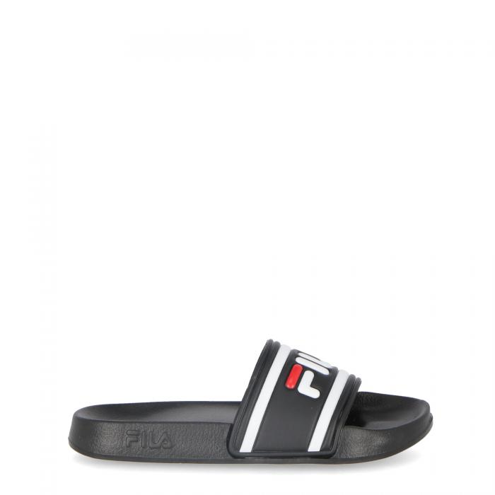 fila sandali e ciabatte black