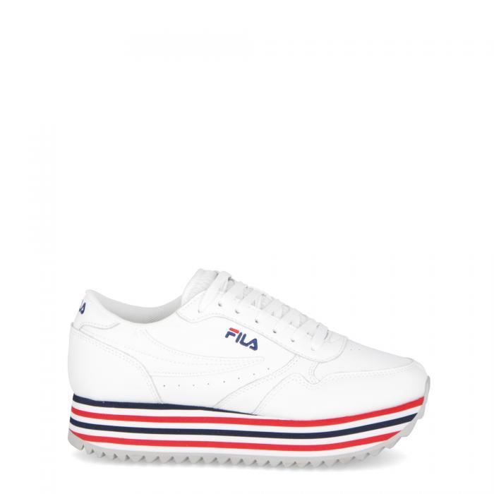 fila scarpe lifestyle white stripe