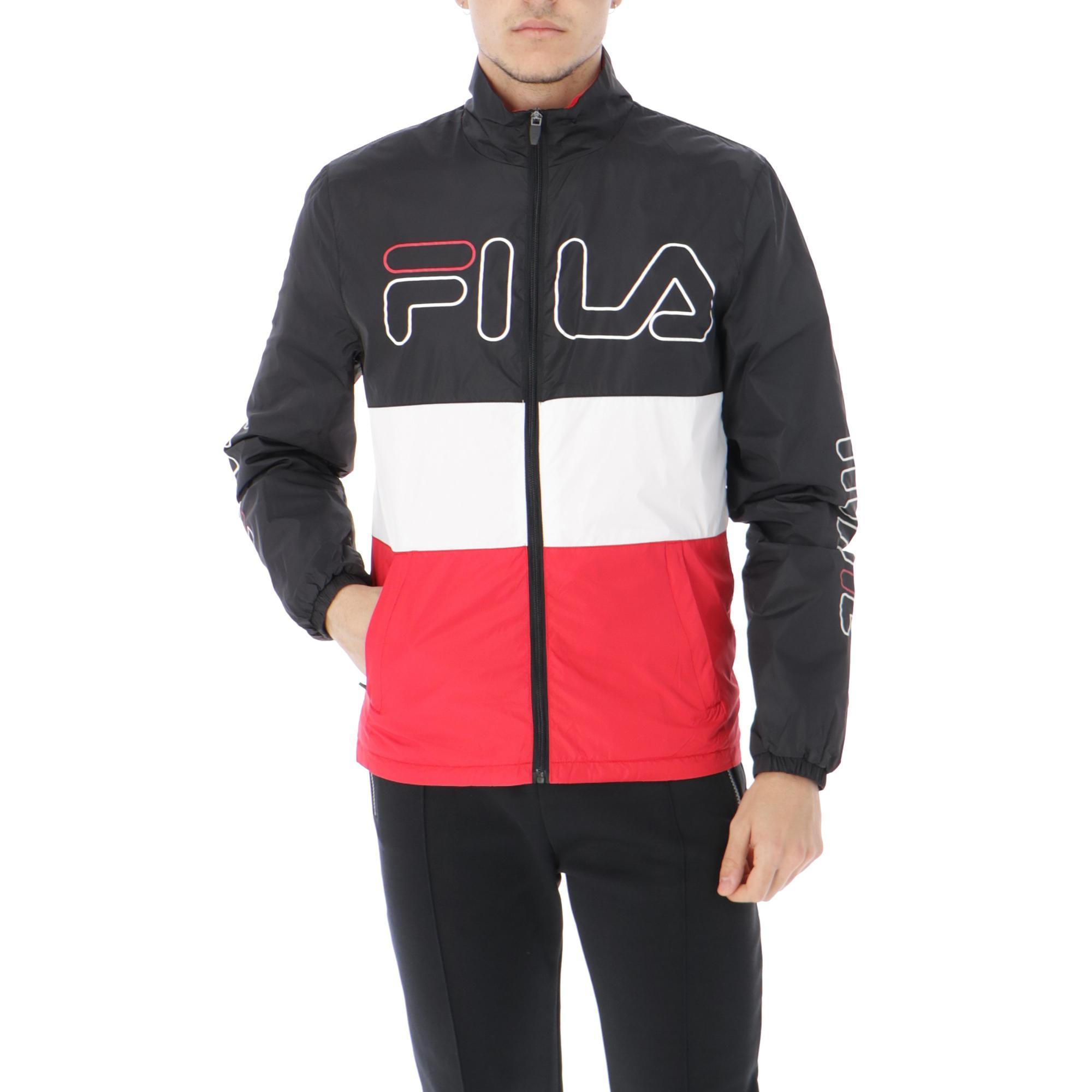 bc0c58ba4a136 Fila Hugo Track Jacket<br/> Black Red White | Treesse