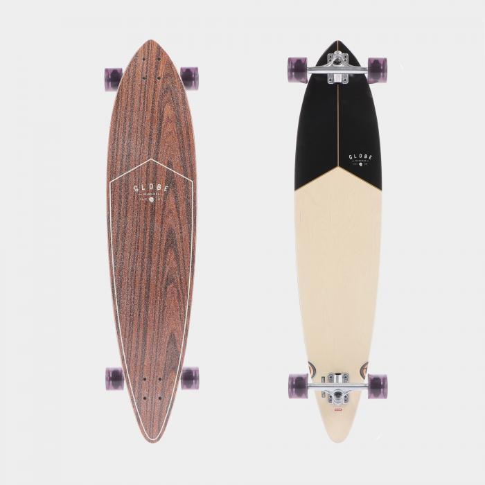 globe longboard rosewood black