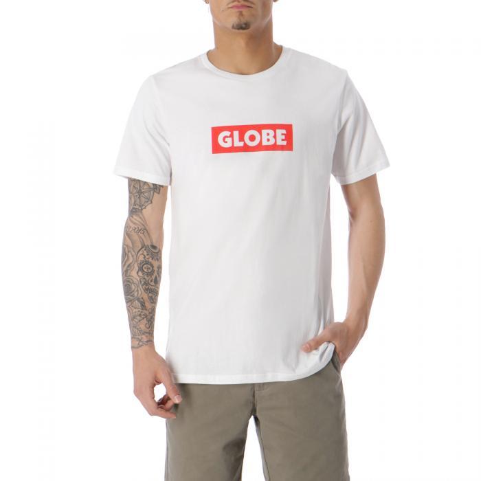 globe t-shirt e canotte white