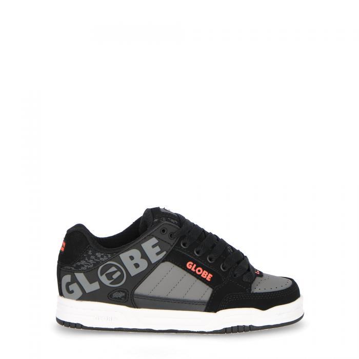 globe scarpe skate black/red/grey knit