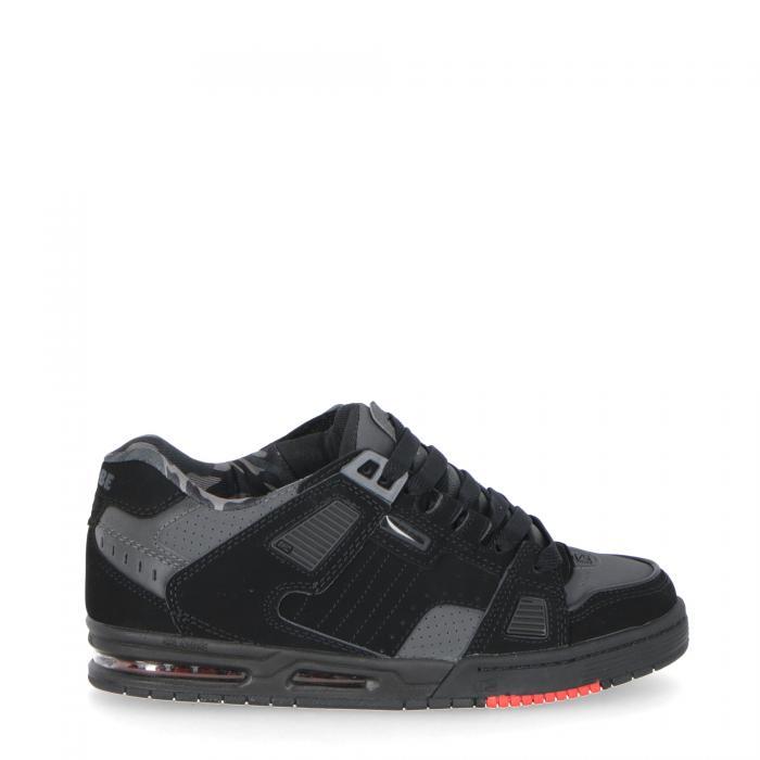 globe scarpe skate black/night/red