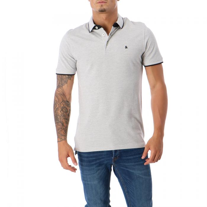jack & jones polo light grey melange