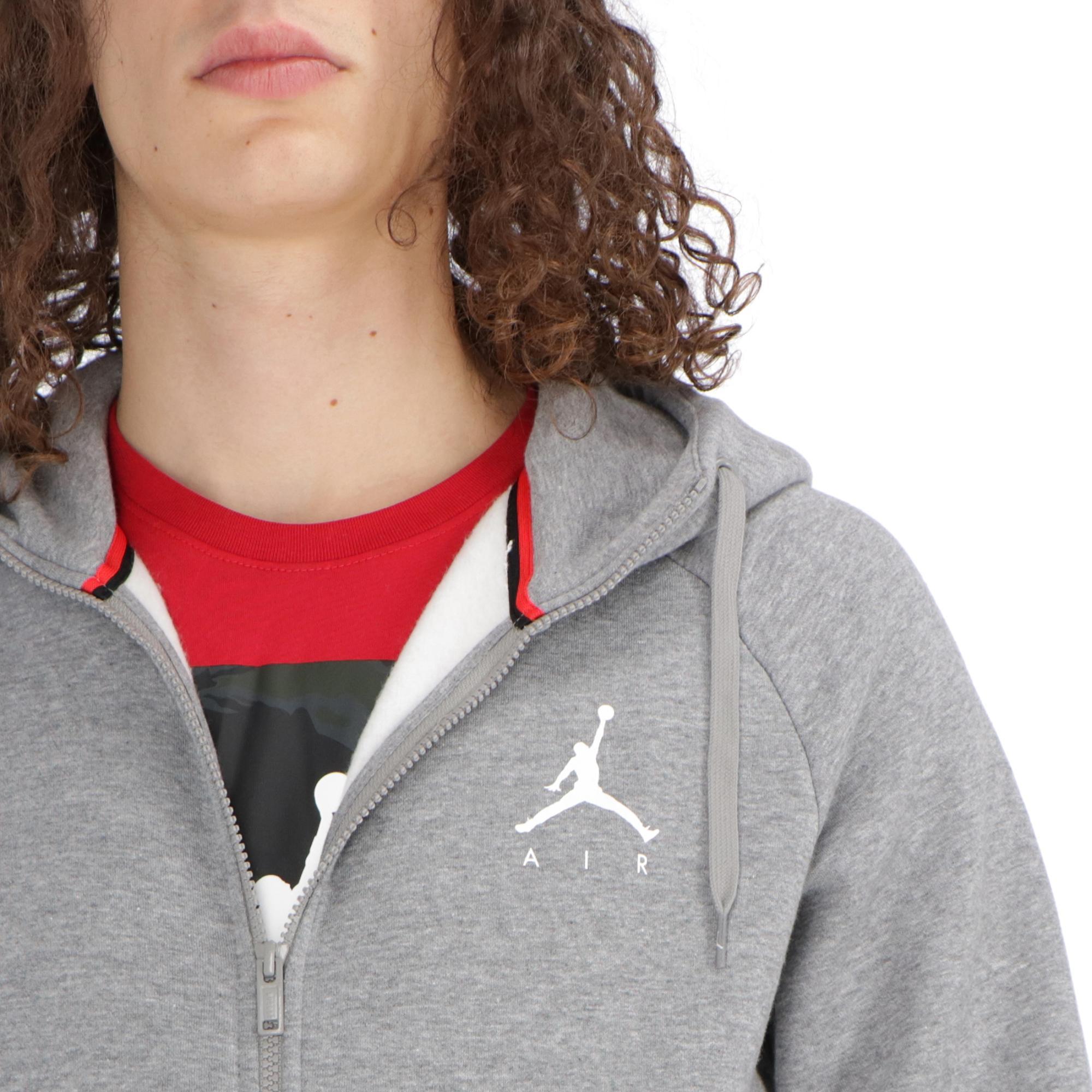 888d077d74d7ee Jordan Jumpman Fleece Fz Carbon Heather white