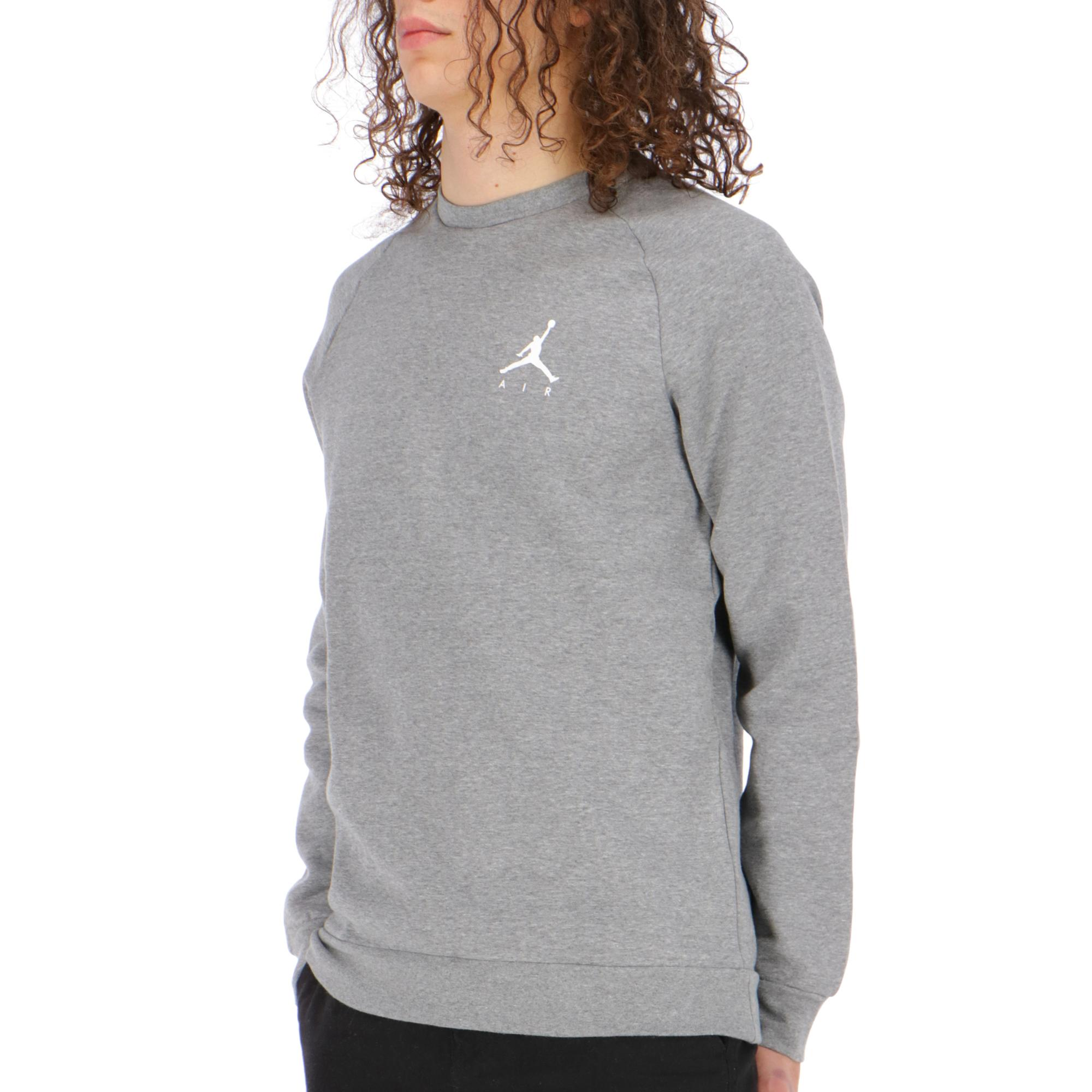 online store 5e370 04951 Jordan Jumpman Fleece Crew Carbon heather white