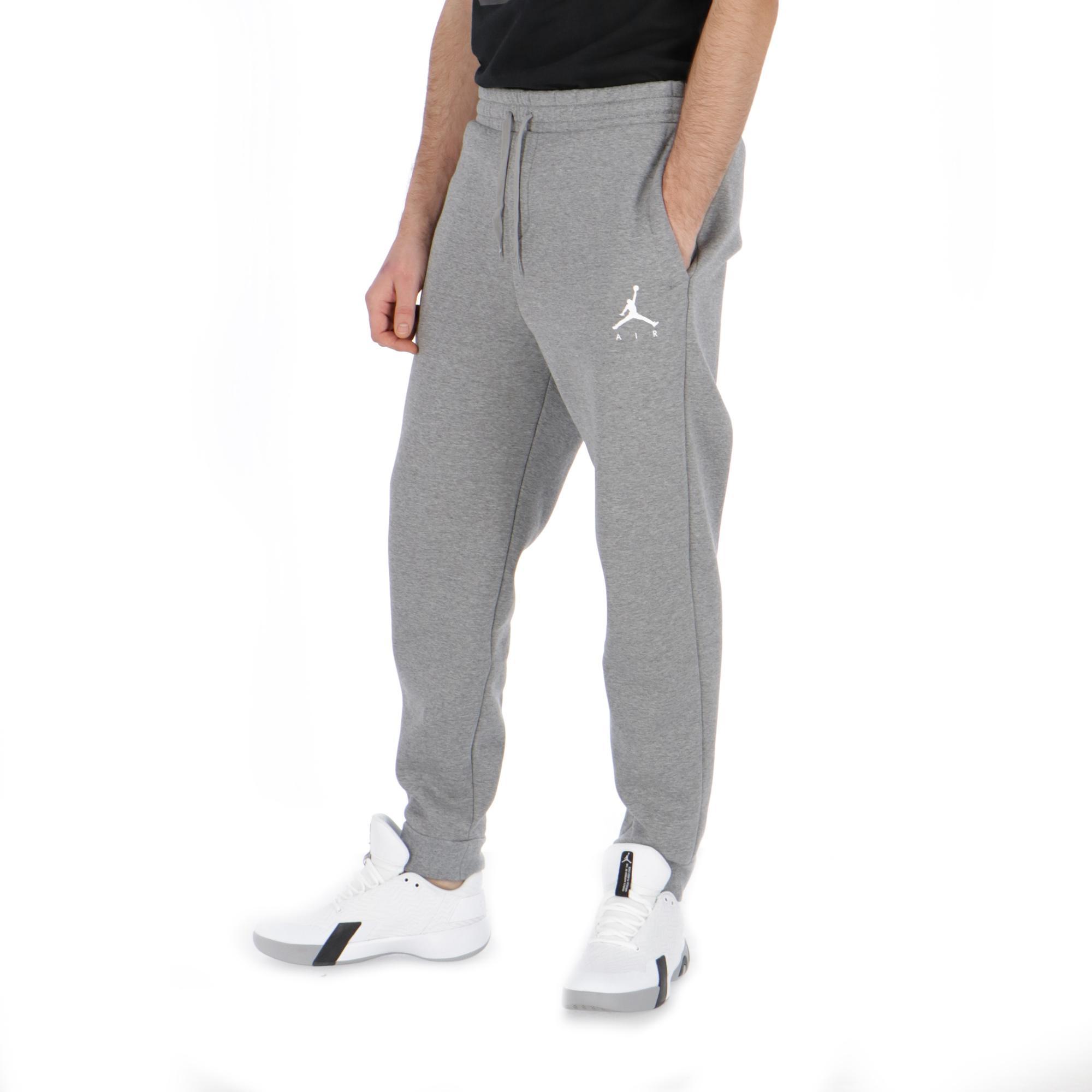 5c9be7aa9c05 Jordan Jumpman Fleece Pant Carbon Heather white