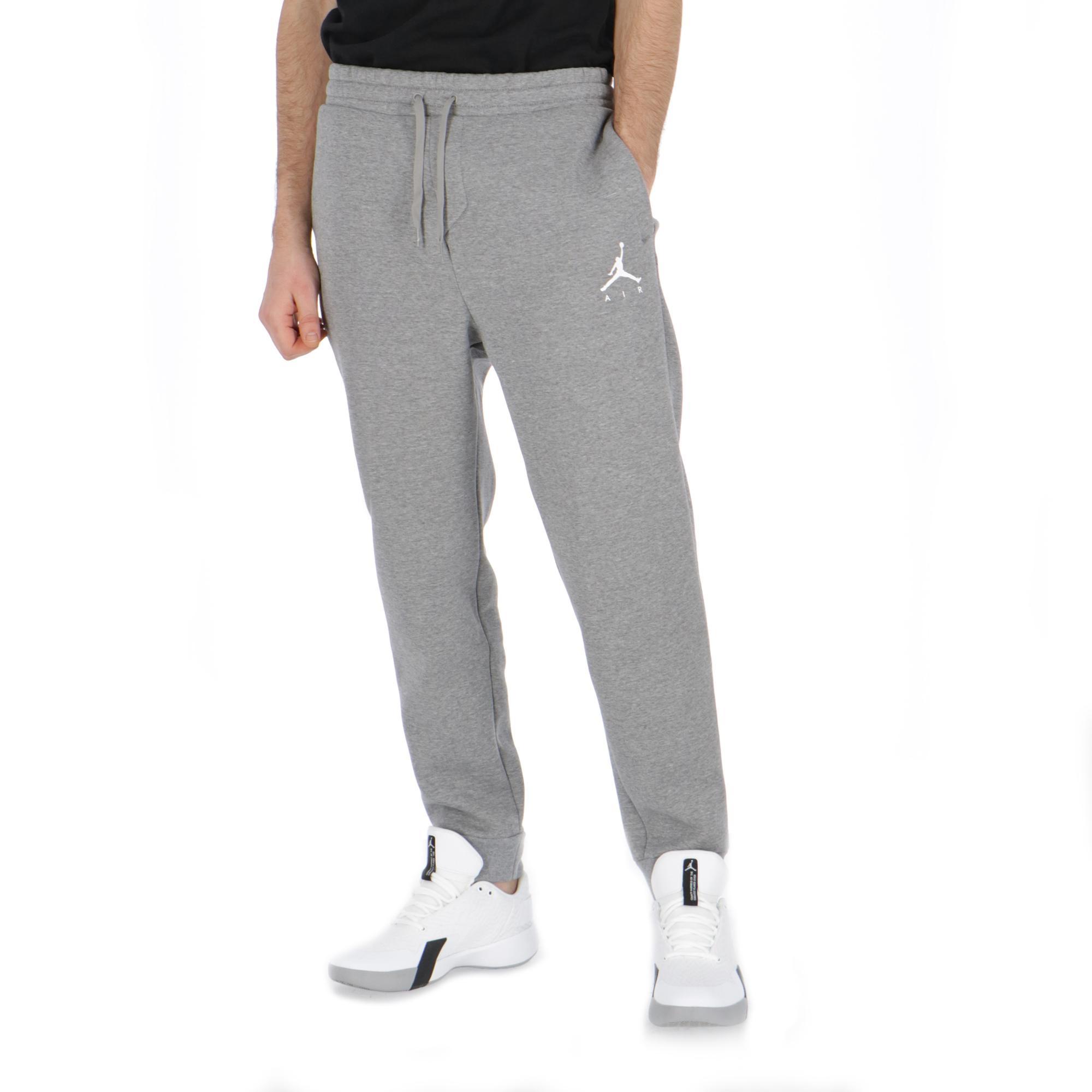 5923af07eaef98 Jordan Jumpman Fleece Pant Carbon Heather white
