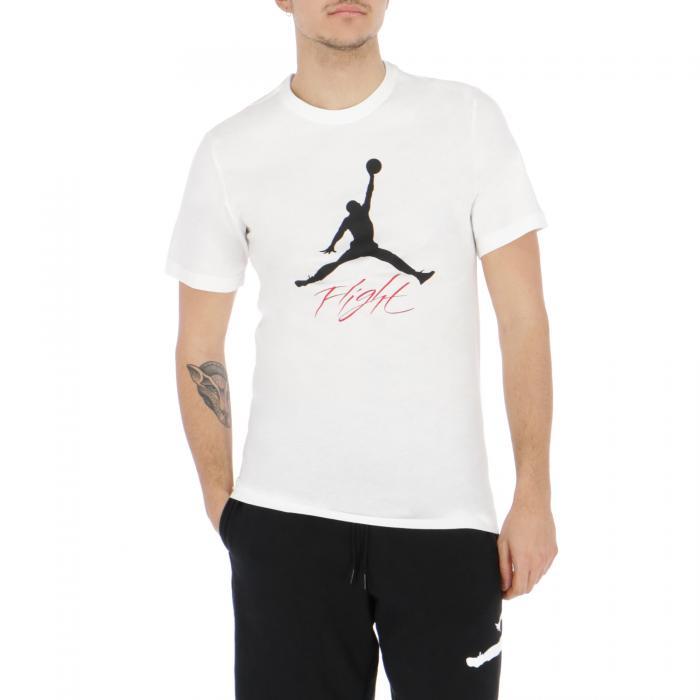 jordan t-shirt e canotte white/black