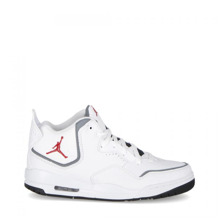 jordan scarpe basket white red grey