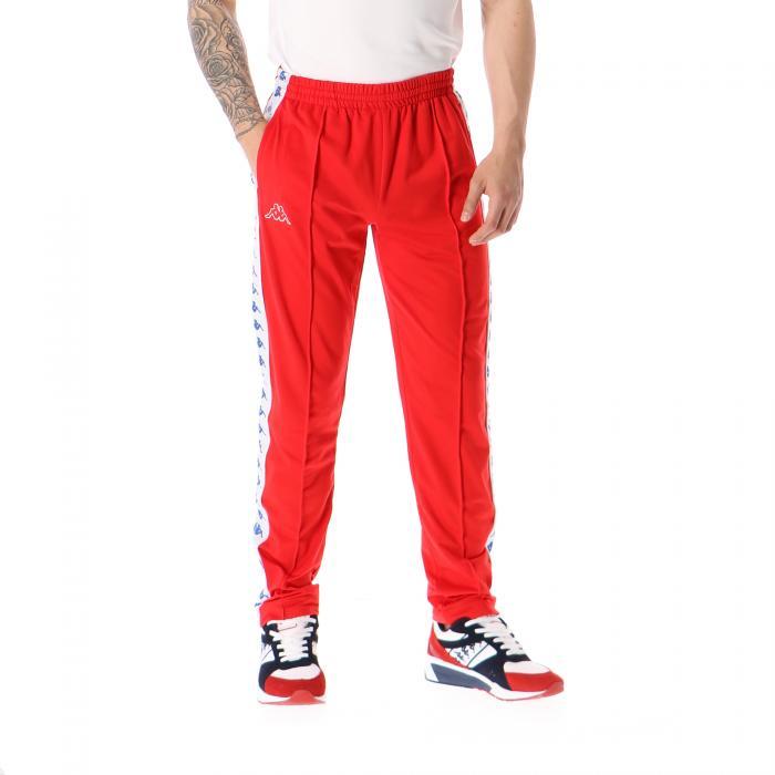 kappa pantaloni red white blue