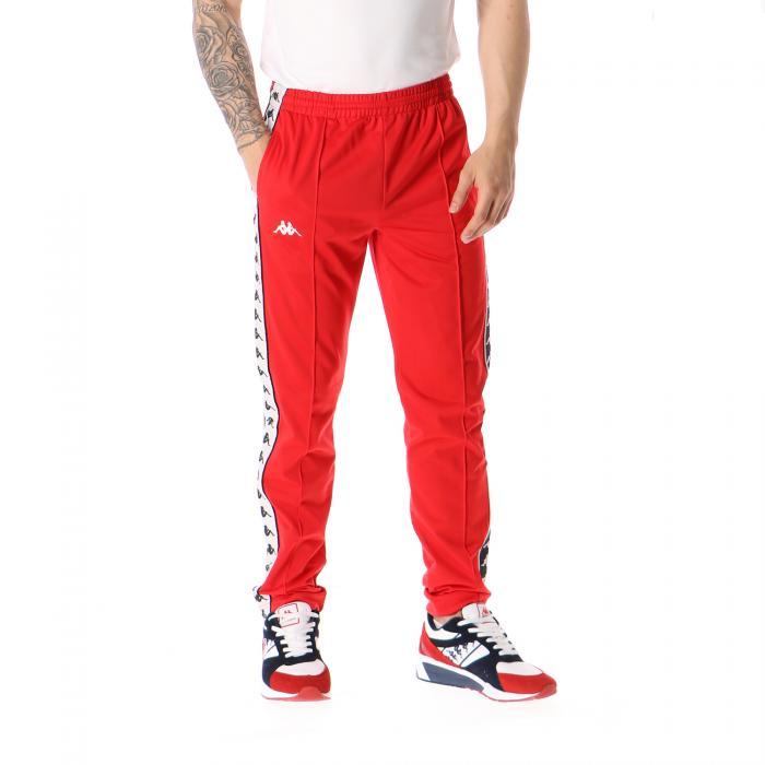 kappa pantaloni red black white