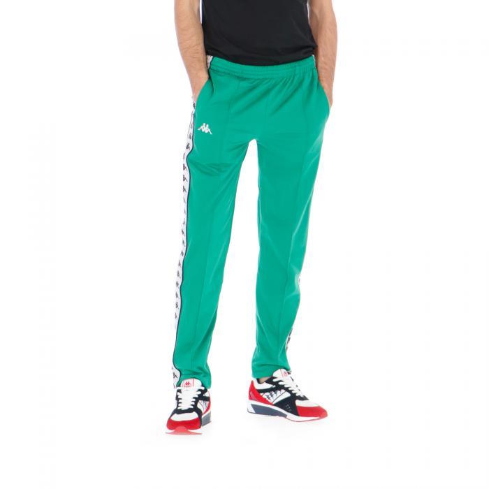 kappa pantaloni green-black-white