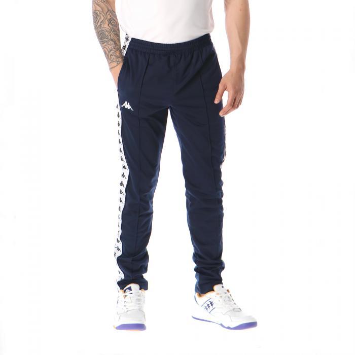 kappa pantaloni blue black white