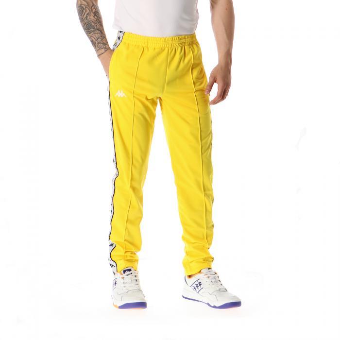 kappa pantaloni yellow black white