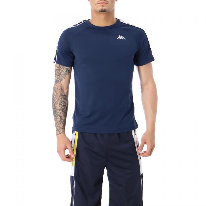 kappa t-shirt e canotte blue black white