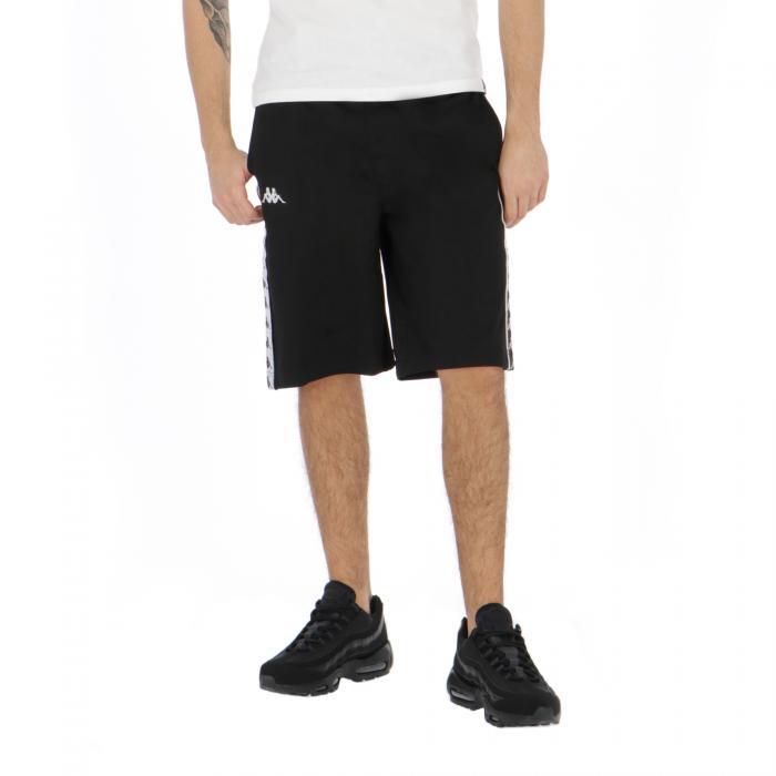 kappa shorts black white