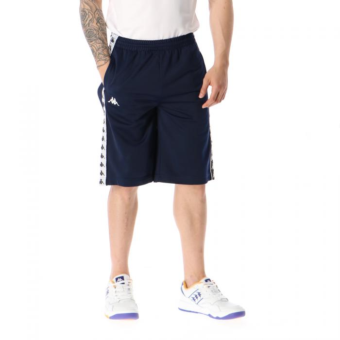kappa shorts blue black white