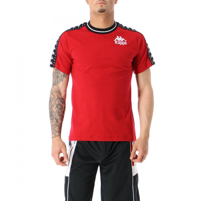 kappa t-shirt e canotte red dk black white