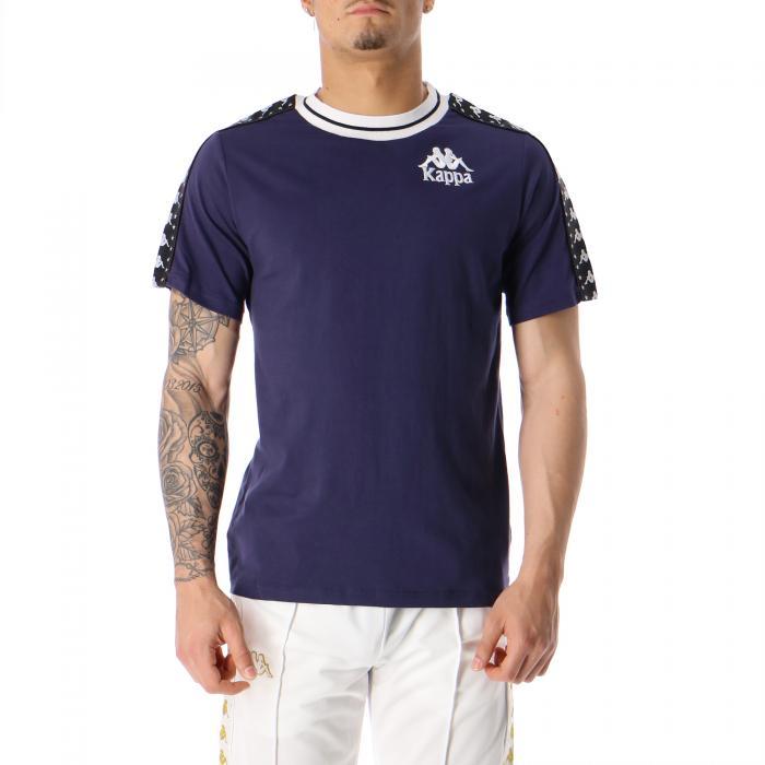 kappa t-shirt e canotte blue greystone black