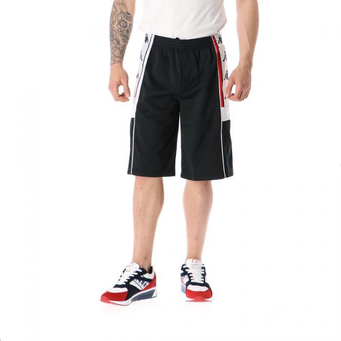 kappa shorts black red white