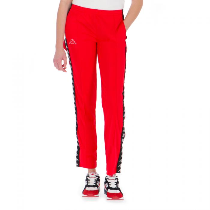 kappa pantaloni red black