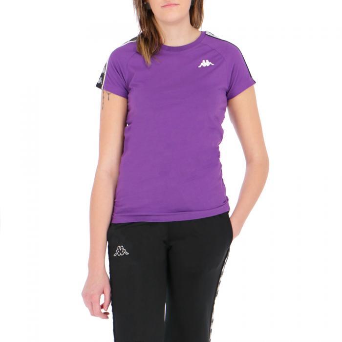 kappa t-shirt e canotte violet-black-white
